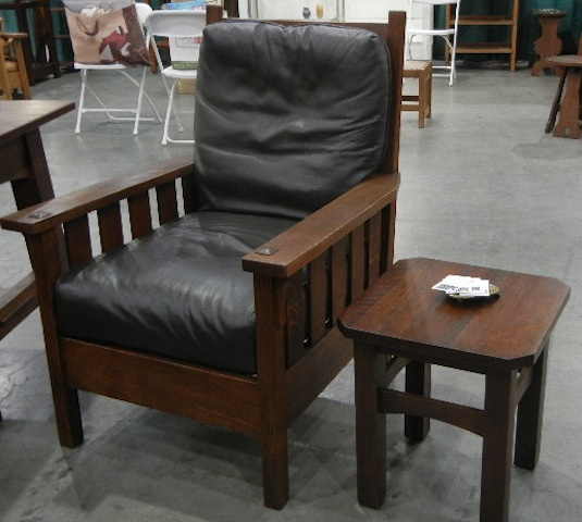 GUSTAV STICKLEY LARGE ARMCHAIR #324