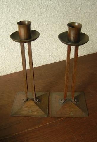 Roycroft Candlesticks
