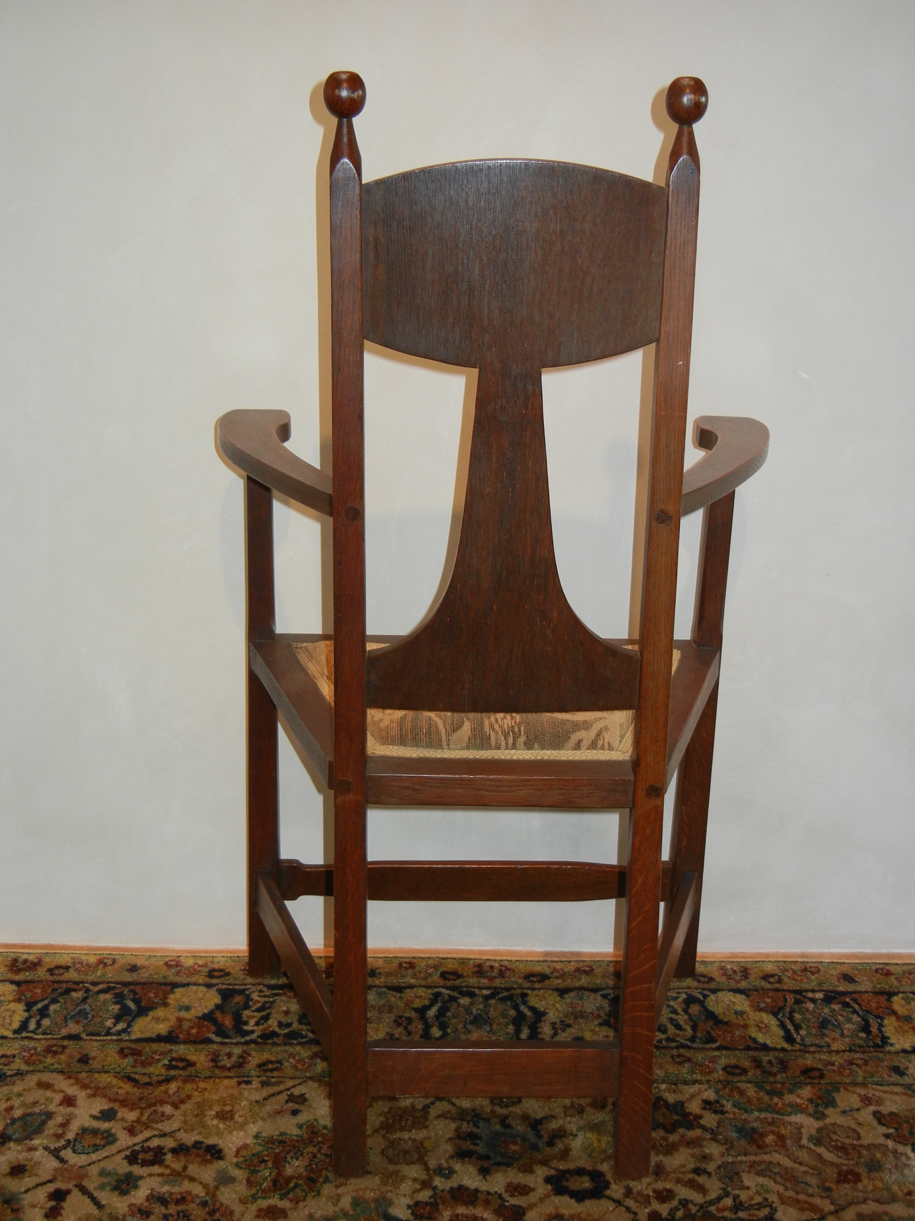 Early Stickley Bros Inlaid Chair