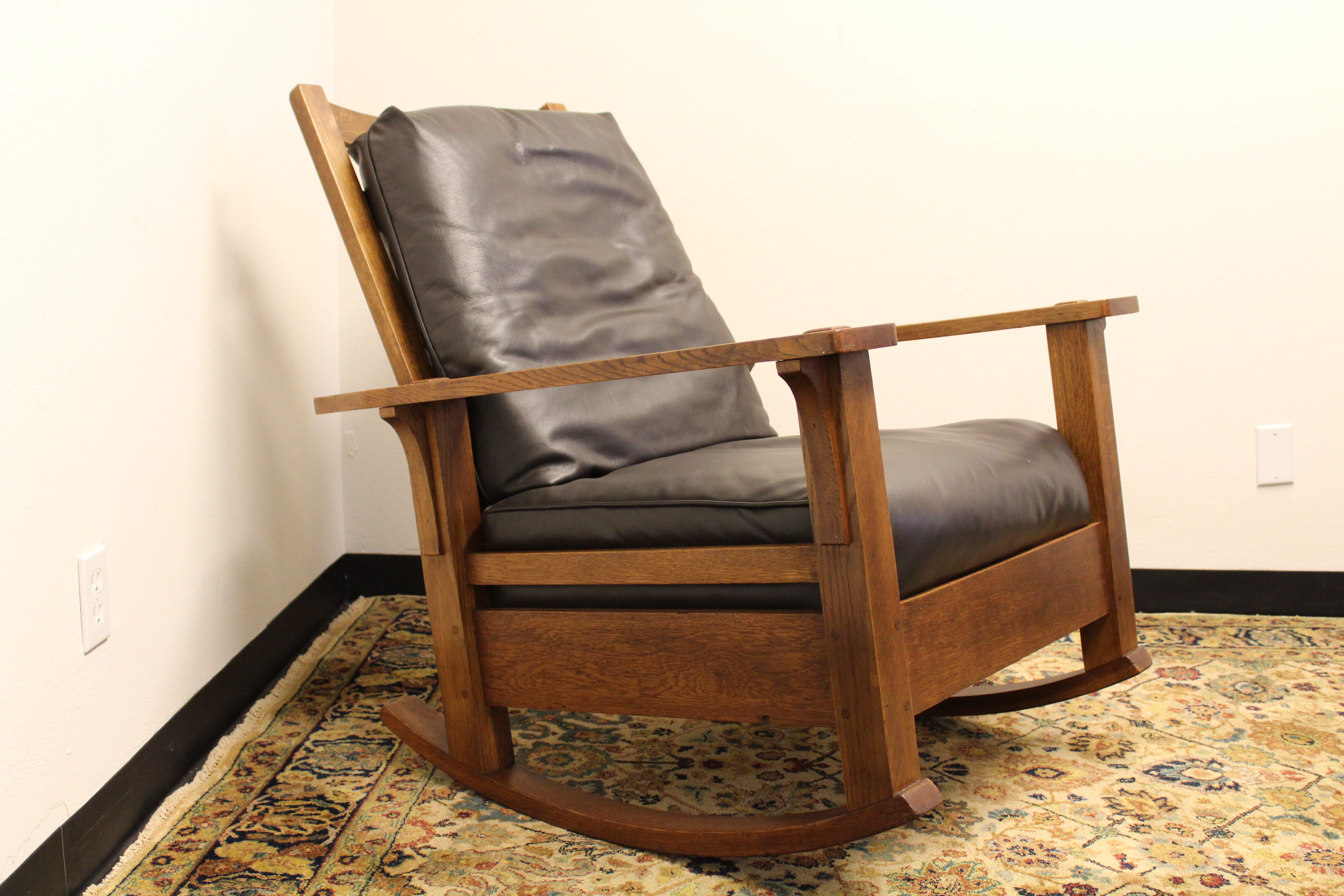 Phenomenal Ljg Stickley Rocker Creativecarmelina Interior Chair Design Creativecarmelinacom