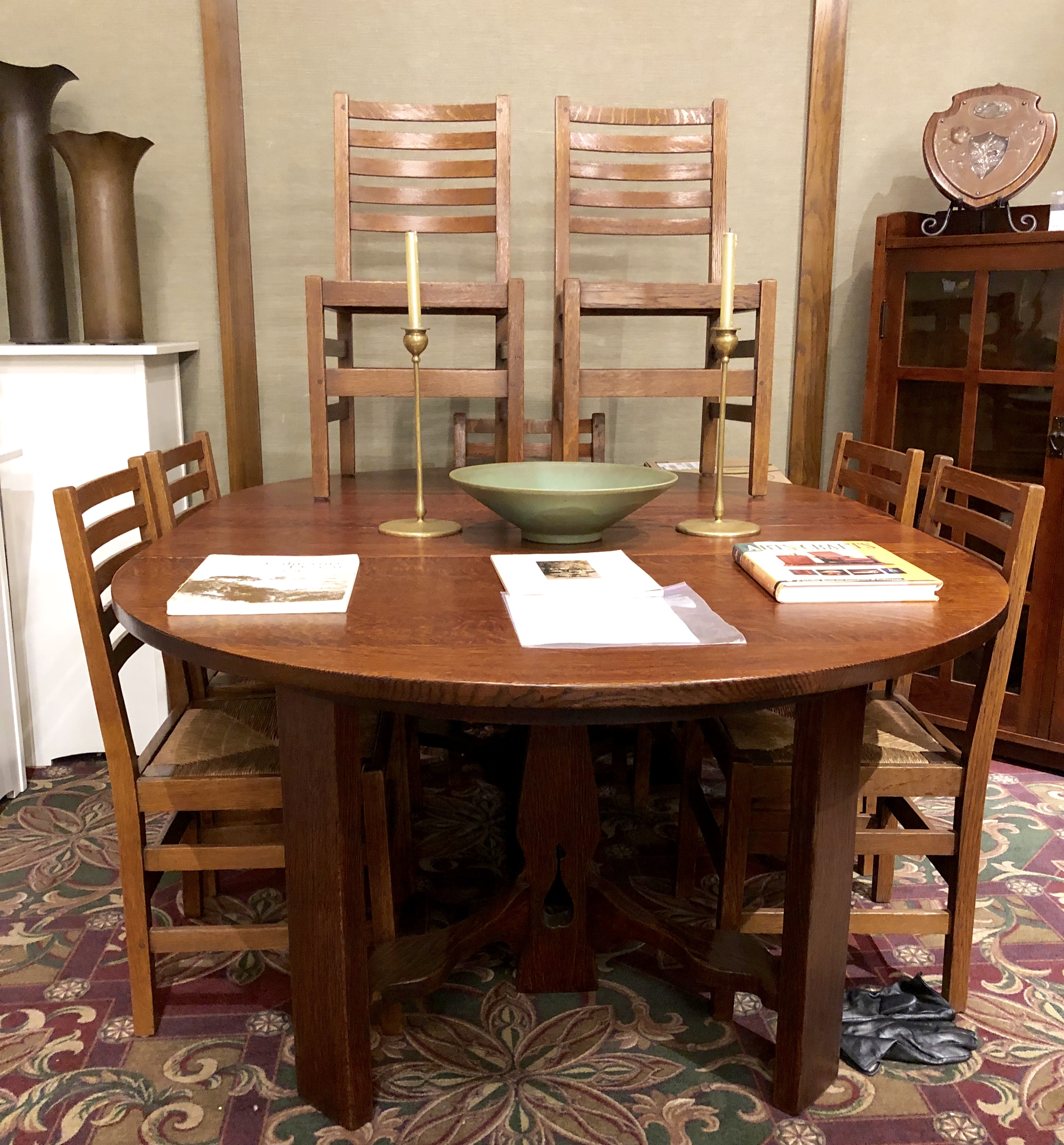 Stickley Dining Room Furniture: L&JG STICKLEY SET OF 8 DINING ROOM CHAIRS